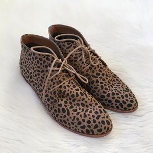 Dolce Vita Leopard Print Chukka Boot Ankle Booties